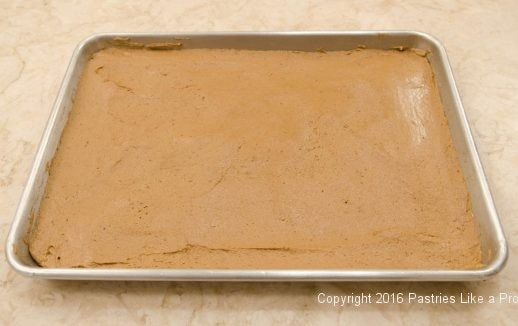 Batter in pan for the Hermit Bars