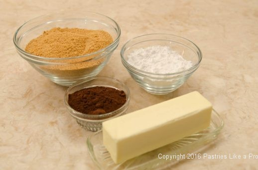 Crust ingredients for the No Bake Chocolate Raspberry Truffle Tart