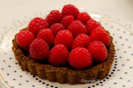 No Bake Chocolate Raspberry Truffle Tart