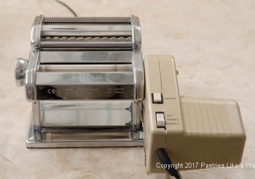Pasta machine used for Garlic Oregano Cracker Bread