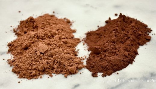 Natural and dutched cocoa for Cocoa Fundamentals Natural vs. Dutched