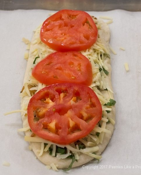 Tomatoes on for International Flatbreads