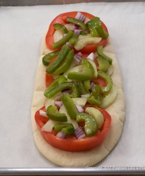 Green Peppers on for the International Flatbreads