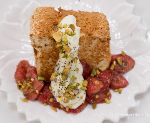 Toasted Angel Food Cake with Roasted Strawberries