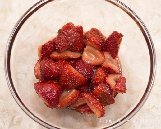Roasted Strawberries for Toasted Angel Food Cake