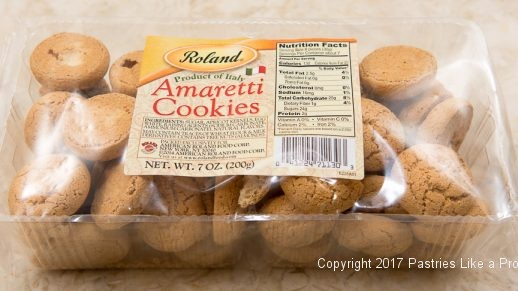 Package of Amaretti Cookies for the White Wine Amaretto Peach Sauce