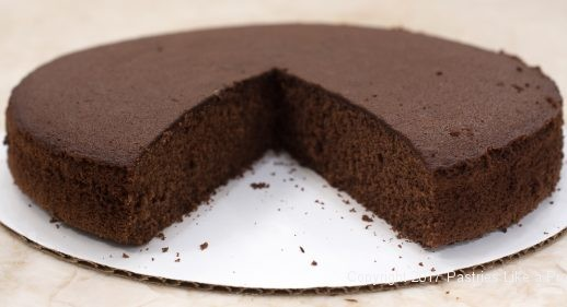 Chocolate cake layer with cocoa for From 1 Recipe comes 6 Different Layers