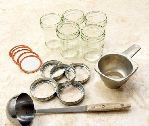 Jam equipment for Scones with Cranberry and Strawberry Jam