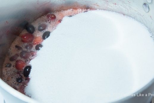 Sugar added for jam in Scones with Cranberry Strawberry Ja