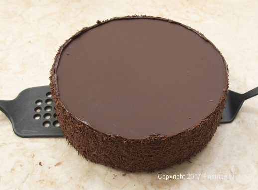 Transferring cake to cake board