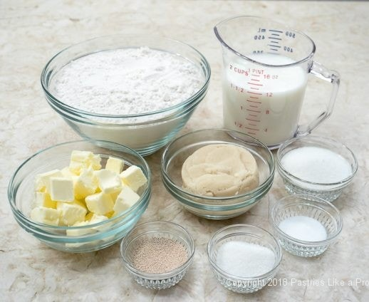 Dough ingredients for Chocolate Spiced Coffee Cake