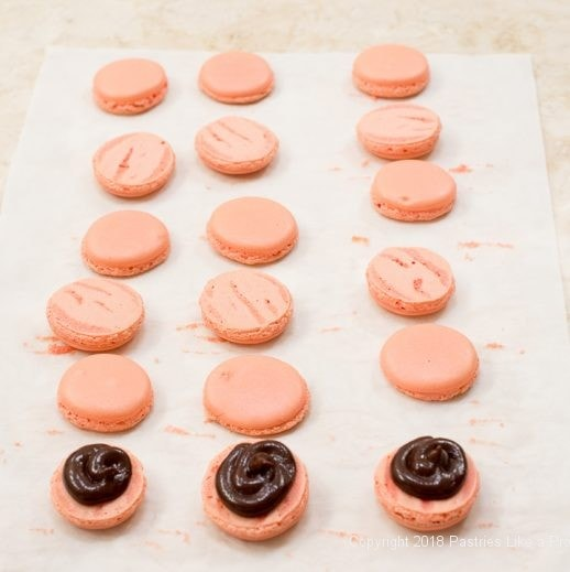Filling and pairing French Macarons