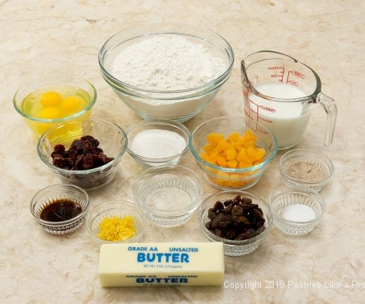 Ingredients for My Easter Bread