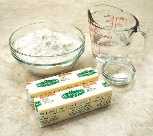 Ingredients for Pithiviers made with Effortless Puff Pastry