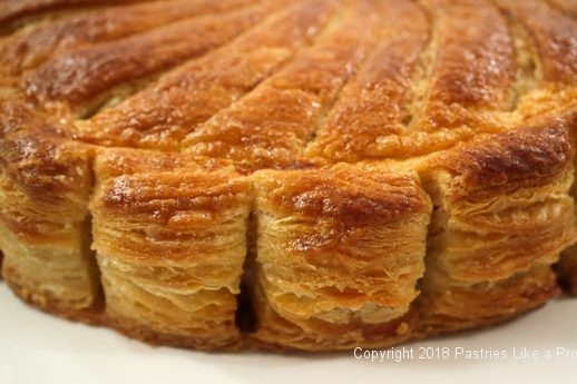 Side view of Pithiviers made with Blitz Puff Pastry