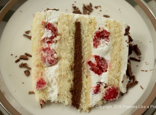 Raspberries and Cream Cake