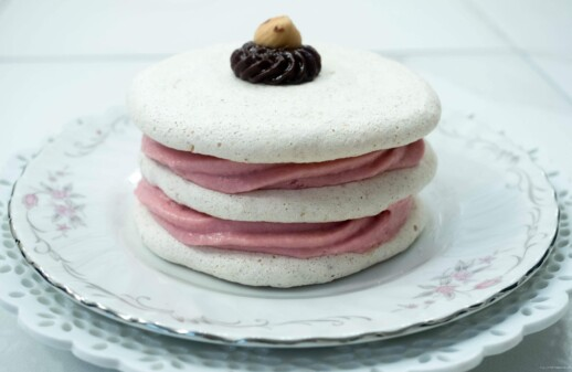 Hazelnut Dacquoise with Raspberry Mascarpone Mousse