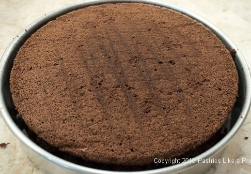 Top layer on cake for Viennese Chocolate Punchtorte