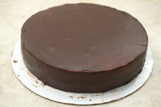 Undercoated cake for the Viennese Chocolate Punchtorte