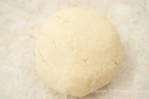 Dough kneaded for English Muffins for Peach Jam
