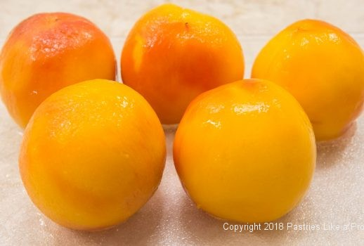Peeled peaches for Everything Peaches