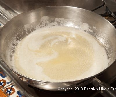 Melted butter for Plum Dumplings