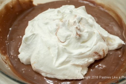 Cream to be folded in for No Churn Nutella Ice Cream