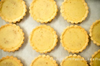 Filled shells for Brown Butter Tarts