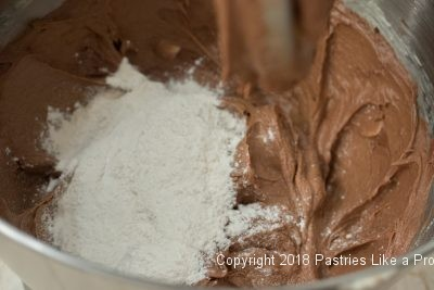 Flour added for the Black Forest Torte