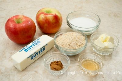 Ingredients for Traditional Apple Strudel