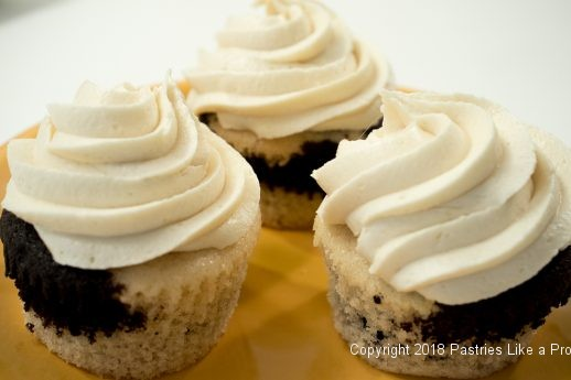 Malted Milk Frosted Cupcakes