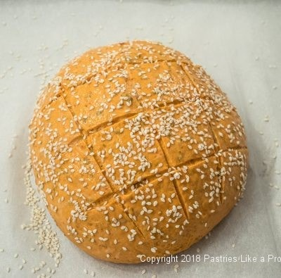 Sprinkled with sesame seeds for Bread and Soup