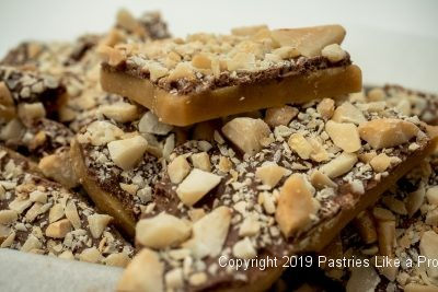 "Salted Macadamia Rum Toffee for Valentine""s Candy"