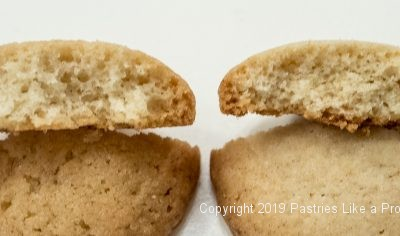Comparison of the inside of the Vanilla Wafers