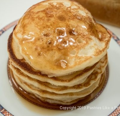Butttermilk pancakes for The Beauty of Buttermilk