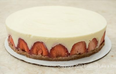 Vanilla Mousse Torte with Strawberries clean up