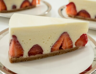 Vanilla Mousse Torte with Strawberries