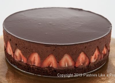 Chocolate Strawberry Mousse Torte