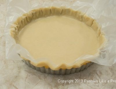 Pastry in tart pan