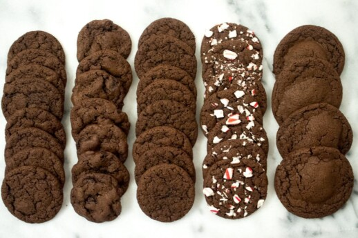 Fudgey Chocolate Cookies with variations