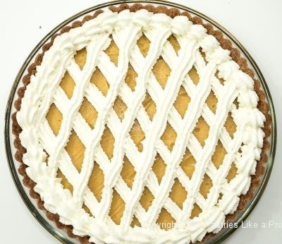 Lattice finished on Peach Curd Tart
