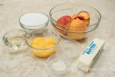 Peach Curd Ingredients