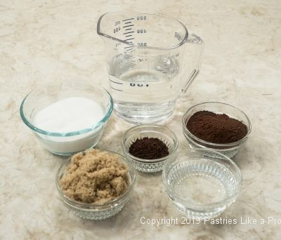 Ingredients for Chocolate Orange Pudding Cake top layer