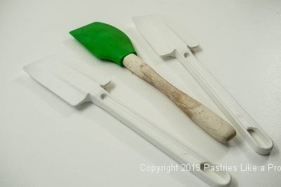 Plastic spatulas as seen in Indispensable Baking Tools