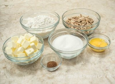Linzer Tart pastry ingredients