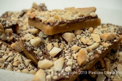 Salted Macadamia Rum Toffee for Holiday Food Gifts