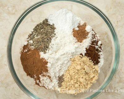 Flour with spices for Gingerbread
