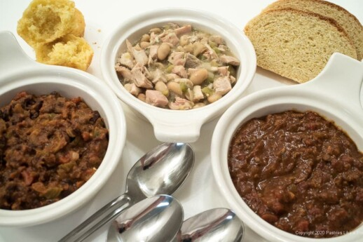 Three Chili Party for the Super Bowl