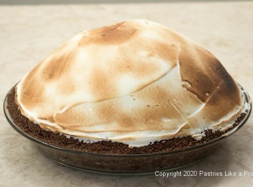 Meringue browned