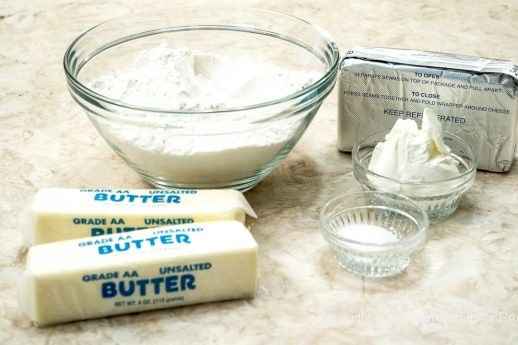 Pastry Ingredients for Rugelach Bars